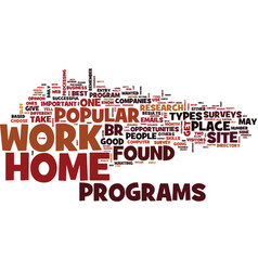 Best work at home opportunities text background vector