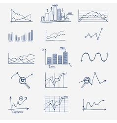 Business finance statistics infographics doodle vector