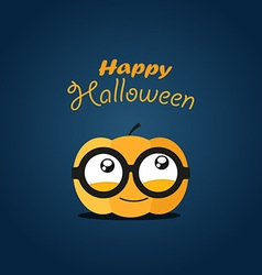 Halloween greeting card happy halloween vector