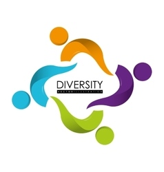 Diversity icon design vector