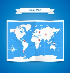Travel map vector