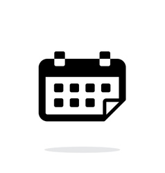 Calendar flipped simple icon on white background vector