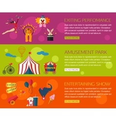 Circus performance entertainment amusement show vector