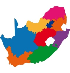 Colorful south africa map vector