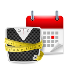 Diet time icon vector image