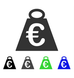 Euro weight standard flat icon vector