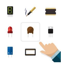 Flat electronics set of display repair mainframe vector