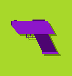 Flat icon design collection electric gun in vector