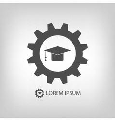 Grey engineering education logo vector