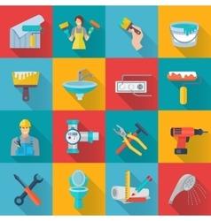 Home repair icons set vector