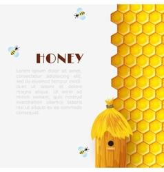 Honey beehive background vector