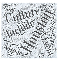 Houston entertainment word cloud concept vector