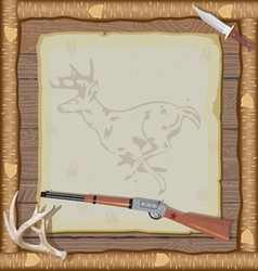 Hunting invitation vector