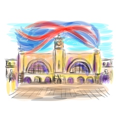King cross station vector