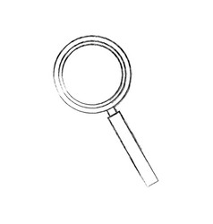 magnifier find zoom discovery research icon vector image