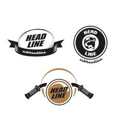 Motorbike logo vector image vector image