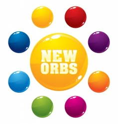 multicolored orbs vector image