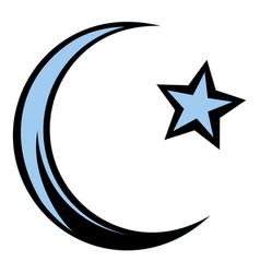 muslim symbol icon cartoon vector image vector image