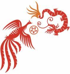 Phoenix dragon fly vector