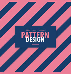 Pink and blue diagonal stripes background vector