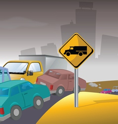 pollution traffic vector image
