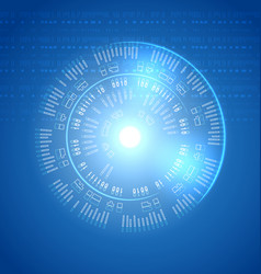 round panel future interface techno background vector image