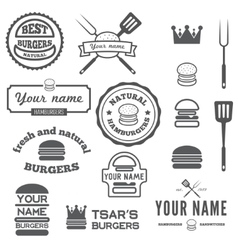 Set of logo labels stickers and logotype vector