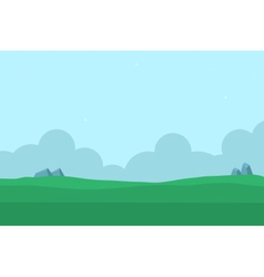 Silhouette of hill nature landscape for game vector