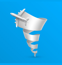 Spiral plane flight vector