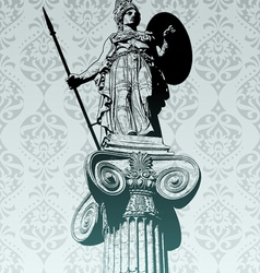 Statue of athena vector