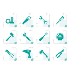 Stylized different kind of tools icons vector