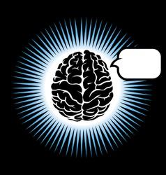 symbol brain vector image