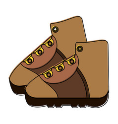 trekking boots icon image vector image