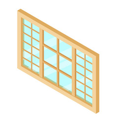 wood window frame icon isometric 3d style vector image vector image