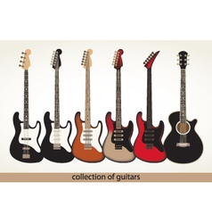 Collection guitars vector