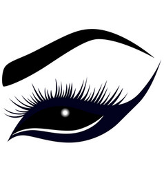 Abstract female eye with long lashes vector