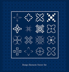 Pattern elements set  design signs vector