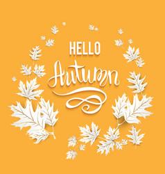 Fall leaves card vector
