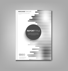 Brochures book or flyer with abstract black white vector
