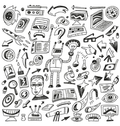 Science - doodles set vector