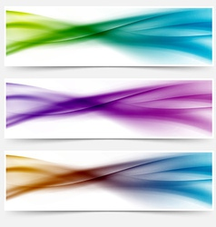 Liquid swoosh lines web headers or footers vector