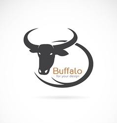 Image of an buffalo design vector