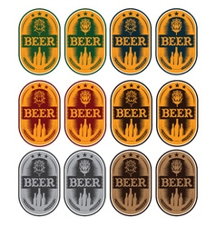 set of labels for beer in a retro style vector image