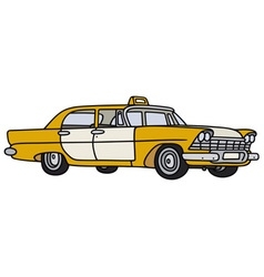 Old big taxi vector