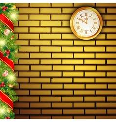 new year brick wall vector image
