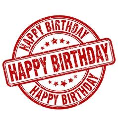 Happy birthday stamp vector