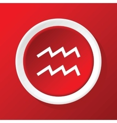 Aquarius icon on red vector