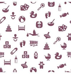 Baby seamless pattern vector