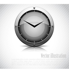 Background with clock vector image