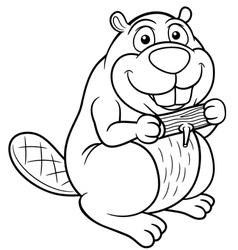 Beaver outline vector